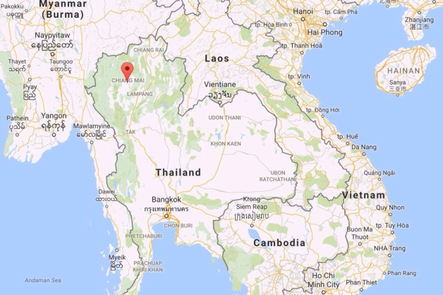 map: Northern Thailand