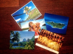 postcards from French Polynesia