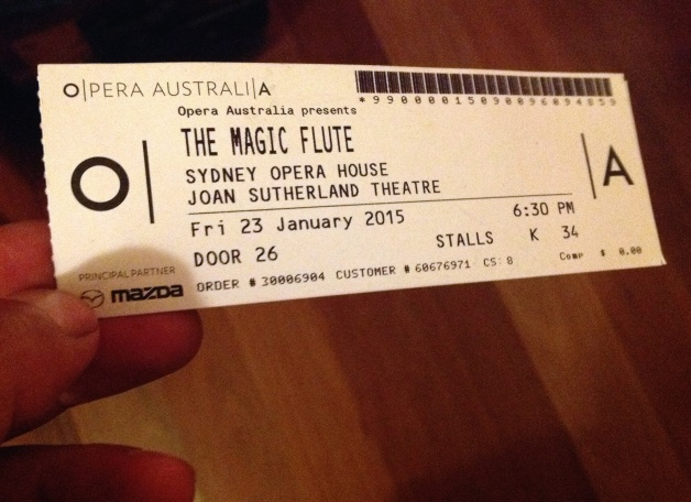 Sydney Opera: The Magic Flute 2015