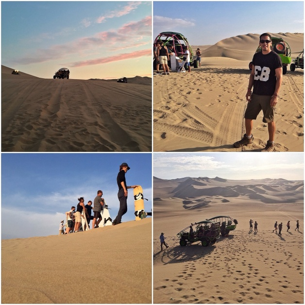 dune buggies and sandboarding in Huacachina