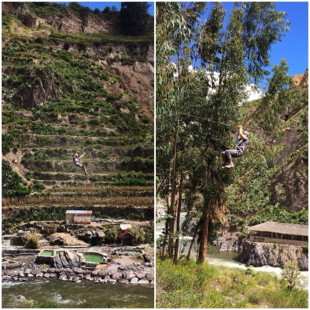 zip lining in the Colca Canyon