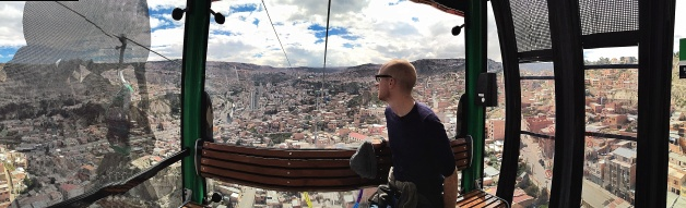 On the cable car, La Paz
